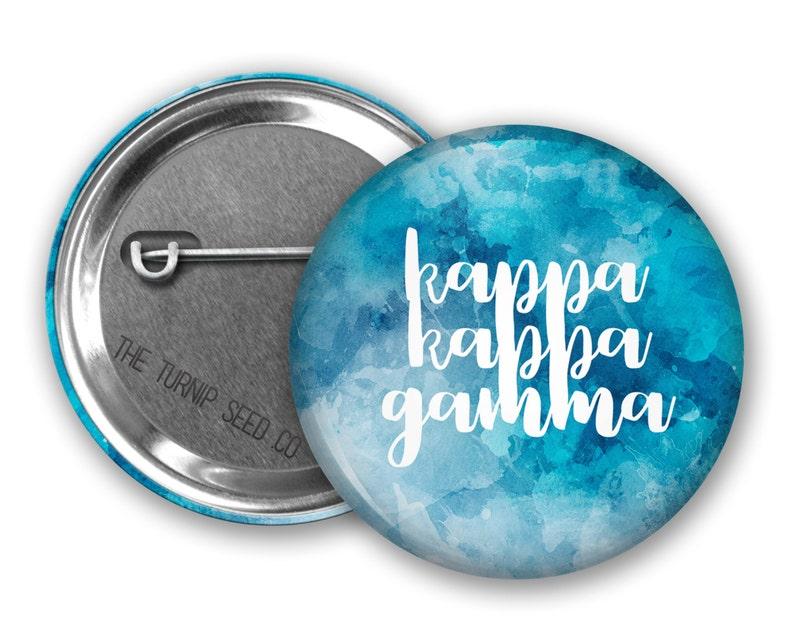 Kappa Kappa Gamma Button 2.25  Single or Bulk BD093 image 0