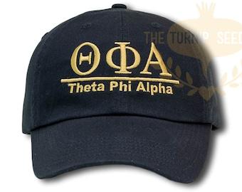 Theta Phi Alpha Sorority Baseball Cap - Custom Color Hat and Embroidery.