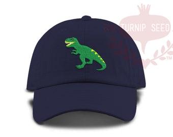 TODDLER T-rex Dinosaur Tyrannosaurus Rex  Baseball Cap - Custom Color Hat and Embroidery.