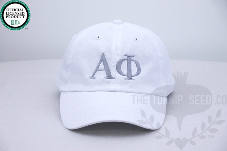 Alpha Phi Greek Only Sorority Baseball Cap  Custom Color Hat image 0