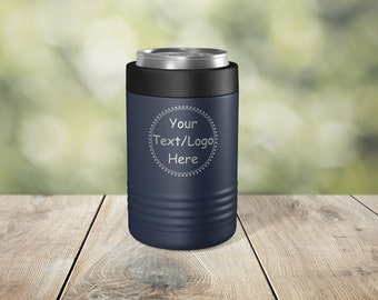 Custom Image, Logo, or text Engraved Vacuum Insulated - 12 oz 16 oz Can or Bottle - ECC0000