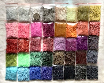 800g bulk lot wholesale glass seed beads size 11/0 assorted colors free shipping 40 AWESOME colors 20g/bag art craft jewelry tiny