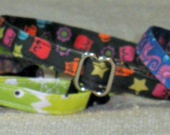Adult Organic Cotton Collars/ Washable Cotton Cat Collars with Breakaway Buckles