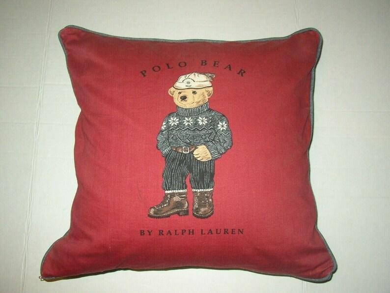 Blue Toss Throw Polo Pillow Bear Red Ralph Lauren Decorative CQBtsrdhx