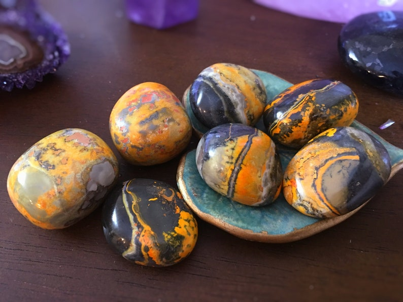 Bumble Bee Jasper Healing Crystal, Solar Plexus Chakra, Self Confidence,  Protective, Empaths, Chakra Crystals, Reiki