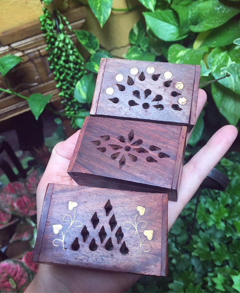 Keepsake Wood Box, Store Small Crystals, Incense Or Jewelry, Healing  Crystals, Sacred Space, Altar Space