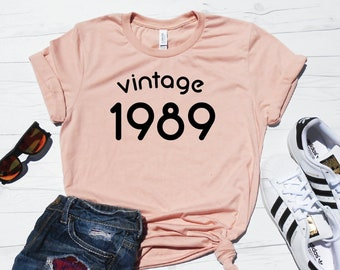 Vintage 1989 Shirt 30th Birthday Cute 30 T Party Outfit Thirty Tee