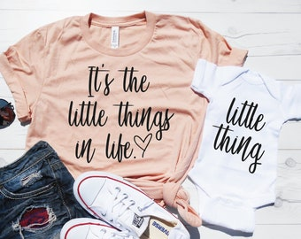 It's The Little Things In Life Set - Mommy and Me Shirt Set - Mommy and Me Outfit - Matching Mom Baby Set - Mother's Day Gift Set Idea Cute