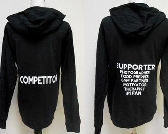 4e3fc7ec5426aa Fitness Competitor hoodie sweatshirt. Couples hoodies. Competition hoodie. Mens  Gym Hoodie. NPC Bikini Competitor Hoodie Supporter Hoodie.