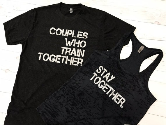 His And Hers Workout Shirts Gym Partner Shirts Husband Etsy