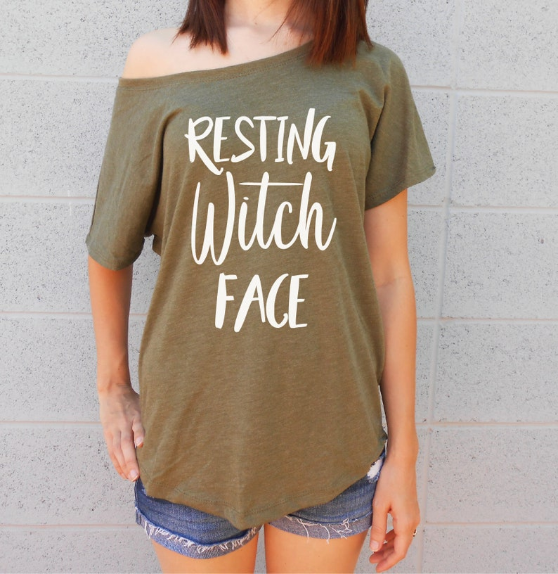 Halloween Party Resting Witch Face Funny T-Shirt 2018