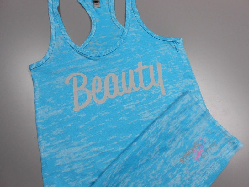 f249d163f8f2a4 Beauty and Beast Shirt Set. Couples Workout Burnout Tops. Mens