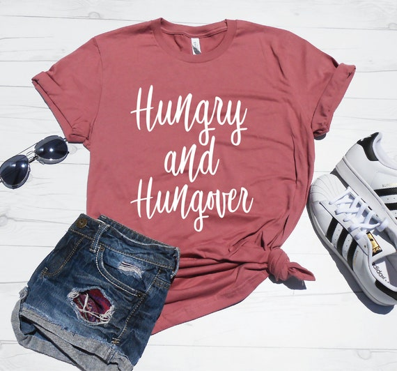 55ccb9815 Hungry and Hungover Shirt Cute Thanksgiving Shirt | Etsy