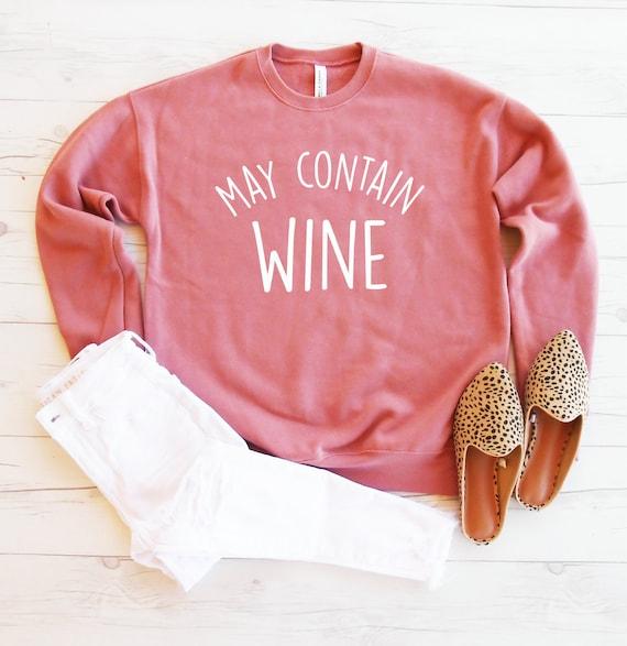 Merlot It/'s Me Wine  Slouchy Off Shoulder Oversized Sweatshirt