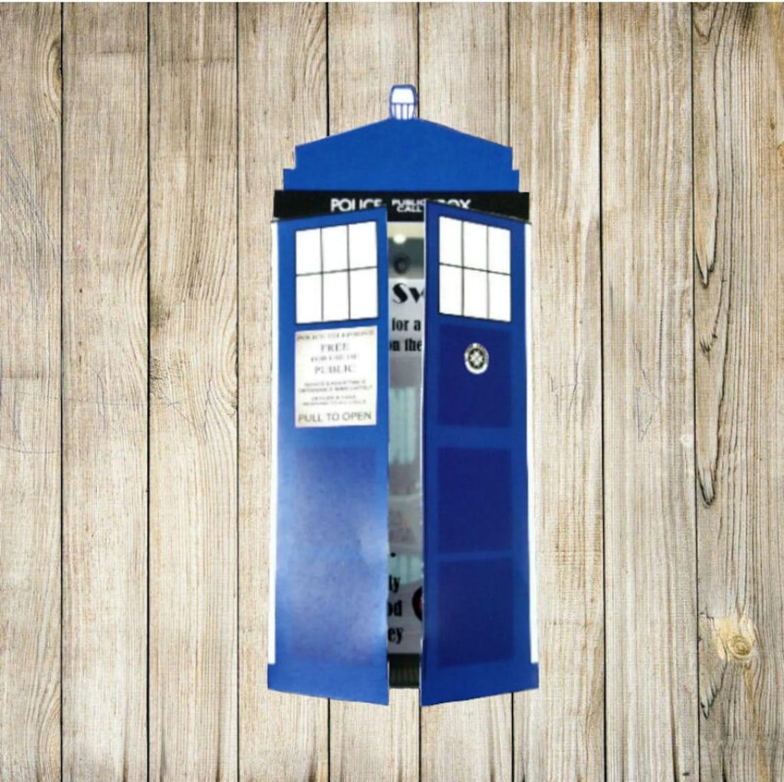 Printable Doctor Who Tardis Invitation