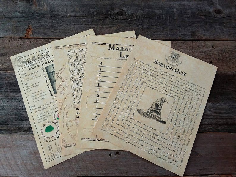 photo regarding Harry Potter Quiz Printable referred to as Printable HP Wizard Get together Online games Quizzes