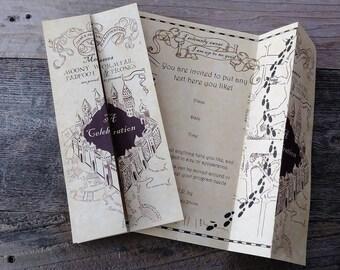 Printable Wizards Map Invitation (Editable)