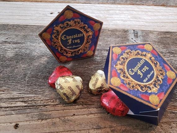 photo about Chocolate Frog Box Printable called Printable HP motivated Chocolate Frog want box with editable words