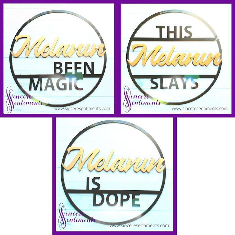 Melanin Black Girl Magic Wall Signs Wall Art image 0