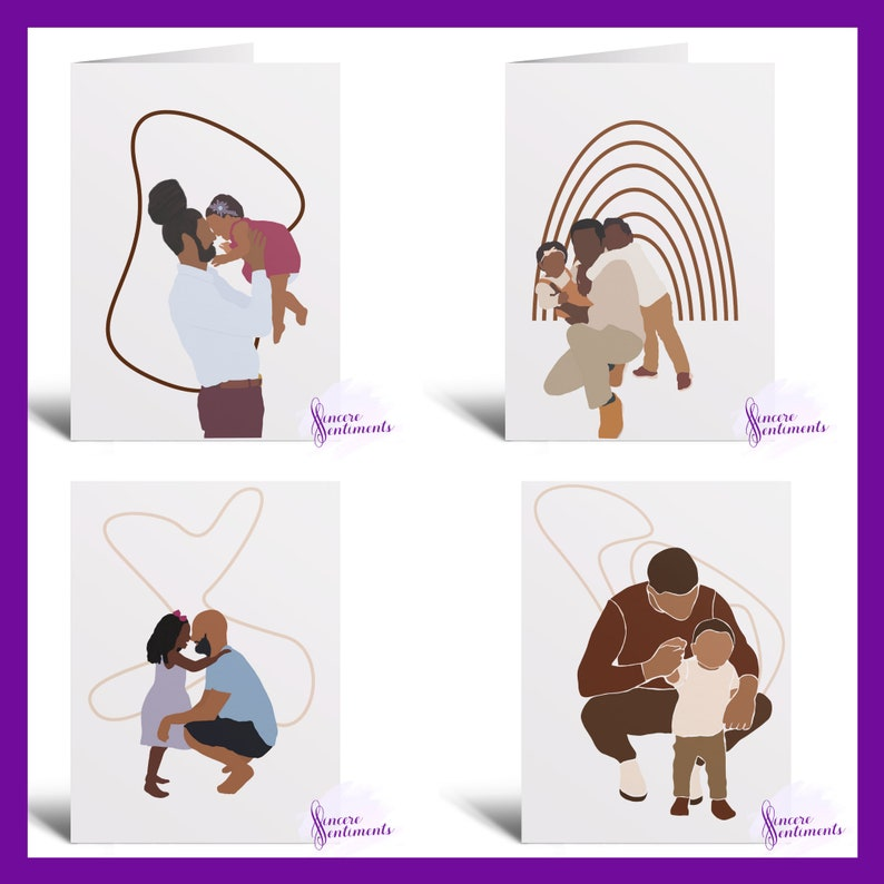 Father's Day Men's Day Male African American Greeting MULTIPLE STYLES