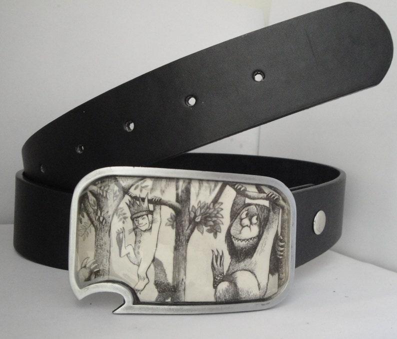 Custom belt buckle  with built-in bottle opener image 0