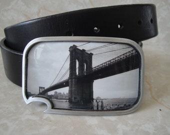 Brooklyn Bridge belt buckle - with built-in bottle opener