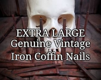 EXTRA LARGE Antique Iron Coffin Nails for Hexes, Spells, or Charms