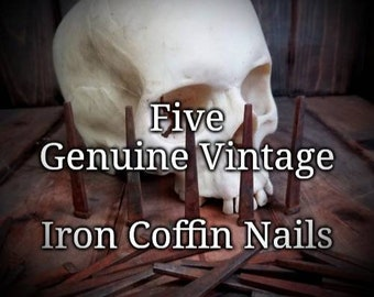 FIVE Antique Iron Coffin Nails for Hexes, Spells or Charms