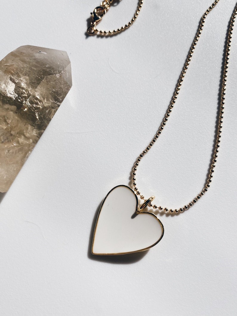 Perfect for Layering Tarnish Free The Valentina Heart Necklace Nickel Free Gold Filled 18K Gold Water Resistant