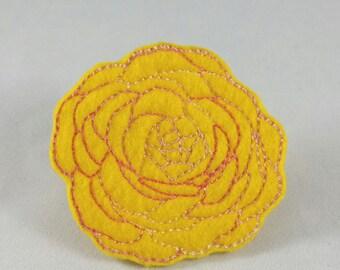 Rose Hair Clip-Feltie-Flower Hair Clip-Hair Clip-Felt-Ranunculus-Hair Accessories-Flower Accessory