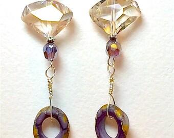 Dangle Drop Earrings Handmade Earrings, Women's Earrings, Swarovski Crystal Earrings, Mothers Day, Birthday