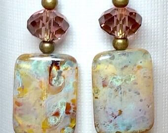 """Earrings, Jewelry, Handmade, Dangle Earrings, Women's Earrings, 2 5/8"""" Long"""