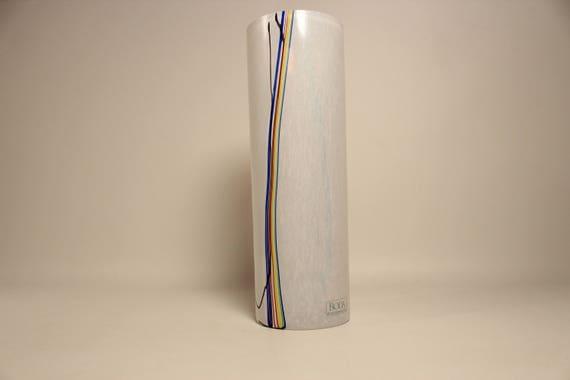 Glass Vase Rainbow Kosta Boda Bertil Vallien Sweden Signed Etsy