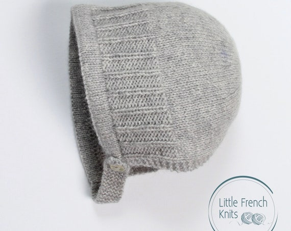 Baby Knitting Pattern Bonnet Hat Wool English Instructions PDF Sizes newborn to 24 months