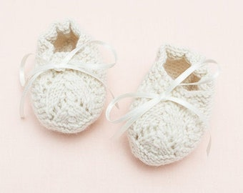 Knitting Pattern Baby Wool Booties Instructions in French PDF Sizes Newborn to 6 months