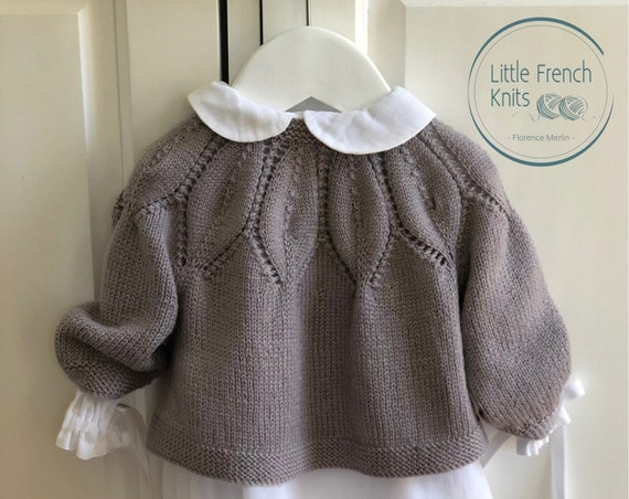 Knitting Pattern Baby Wool Cardigan Instructions in English PDF Sizes Newborn to 24 months