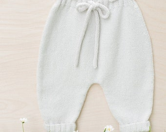 Knitting Pattern Baby Wool Pants Instructions in French PDF Sizes Newborn to 18 months