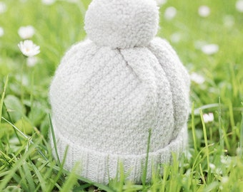 Knitting Pattern Baby Wool Hat Instructions in French PDF Sizes Newborn to 18 months