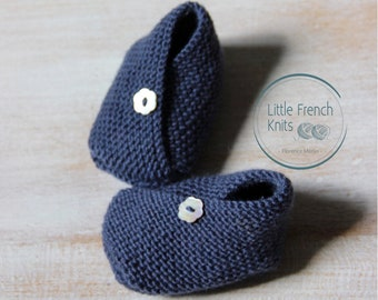 knitting Pattern Baby kimono Booties Instructions in English Instant Digital Download PDF Sizes Newborn to 6 months