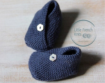 knitting Pattern Baby kimono Booties Instructions in French Instant Digital Download PDF Sizes Newborn to 6 months