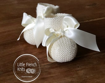 knitting Pattern Baby Booties Instructions in English Instant Digital Download PDF Sizes Preemie to 6 months