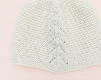 Baby Knitting Pattern Bonnet Hat Wool French Instructions PDF Sizes newborn to 3 years