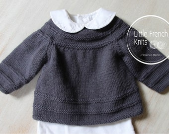 Baby Knitting Pattern Cardigan Sweater Wool English Instructions PDF Sizes newborn to 12 months