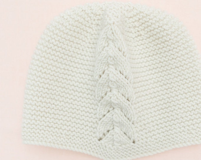 Featured listing image: Baby Knitting Pattern Bonnet Hat Wool English Instructions PDF Sizes newborn to 3 years