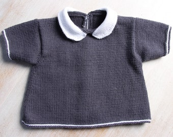Baby Knitting Pattern Cardigan Sweater Wool English Instructions PDF Size newborn to 18 months