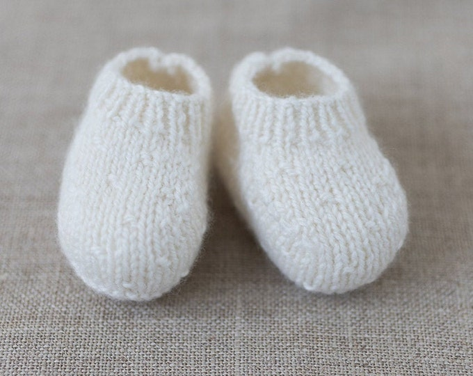 Featured listing image: knitting Pattern Baby Booties Instructions in English Instant Digital Download PDF Sizes Newborn to 12 months
