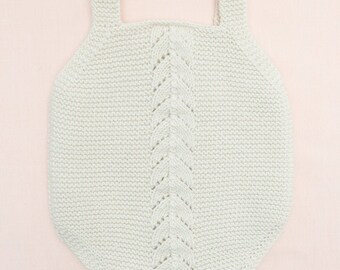 Knitting Pattern Baby Romper Pant Onesie Instructions in french PDF Instant Download Sizes Newborn to 18 months