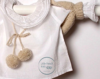 Baby Shoulderette Instructions in French / PDF Instant Download  / Sizes Newborn / 3 / 6 / 12 months