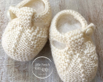 knitting Pattern Baby Booties Instructions in English Instant Digital Download PDF Sizes Newborn to 9 months