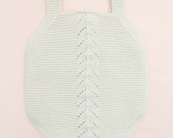 Knitting Pattern Baby Romper Pant Onesie Instructions in English PDF Instant Download Sizes Newborn to 18 months